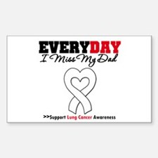 LungCancer MissMyDad Rectangle Sticker 10 pk)