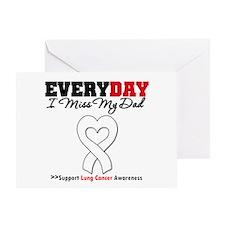 LungCancer MissMyDad Greeting Card