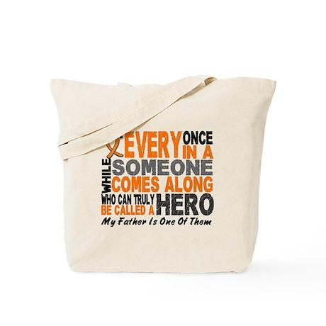 HERO Comes Along 1 Father LEUKEMIA Tote Bag