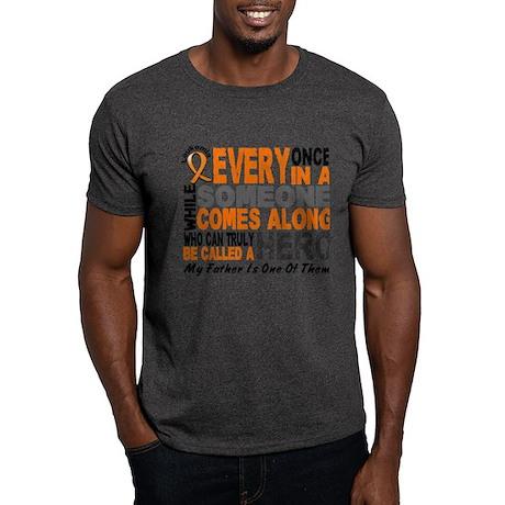HERO Comes Along 1 Father LEUKEMIA Dark T-Shirt