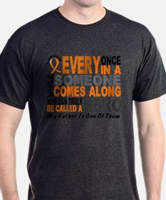 HERO Comes Along 1 Father LEUKEMIA T-Shirt