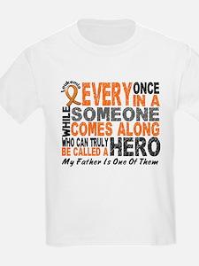 HERO Comes Along 1 Father LEUKEMIA T-Shirt