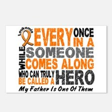 HERO Comes Along 1 Father LEUKEMIA Postcards (Pack