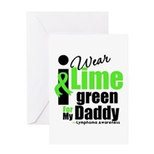 I Wear Lime Green For Daddy Greeting Card