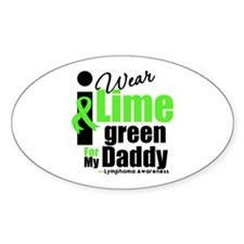 I Wear Lime Green For Daddy Oval Sticker (10 pk)