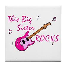 Big Sister Rocks Tile Coaster