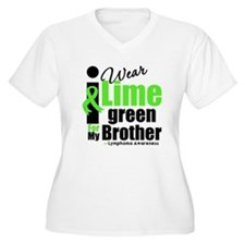 I Wear Lime Green For Brother T-Shirt