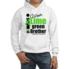 I Wear Lime Green For Brother Hoodie