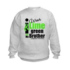 I Wear Lime Green For Brother Sweatshirt
