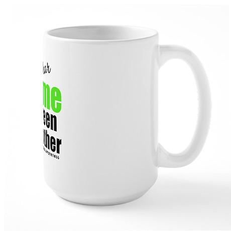 I Wear Lime Green For Brother Large Mug