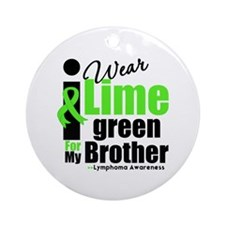 I Wear Lime Green For Brother Ornament (Round)