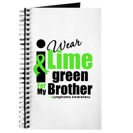 I Wear Lime Green For Brother Journal