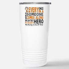 HERO Comes Along 1 Daddy LEUKEMIA Travel Mug