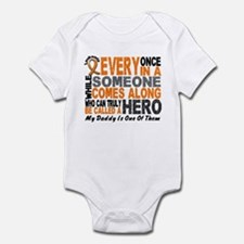 HERO Comes Along 1 Daddy LEUKEMIA Infant Bodysuit