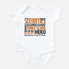 HERO Comes Along 1 Daddy LEUKEMIA Onesie