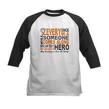 HERO Comes Along 1 Daddy LEUKEMIA Tee