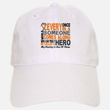 HERO Comes Along 1 Daddy LEUKEMIA Baseball Baseball Cap