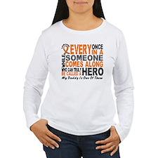 HERO Comes Along 1 Daddy LEUKEMIA T-Shirt