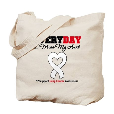 LungCancer MissMyAunt Tote Bag
