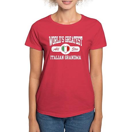 World's Greatest Italian Grandma Women's Dark T-Sh