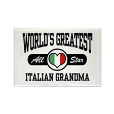World's Greatest Italian Grandma Rectangle Magnet