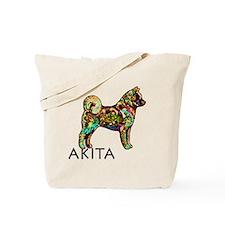 Glow Bright Akita Tote Bag
