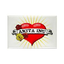 Akita Inu Heart Rectangle Magnet (10 pack)