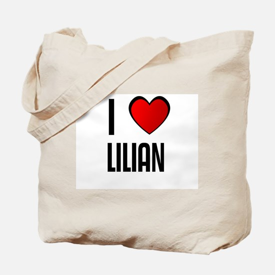 I LOVE LILIAN Tote Bag