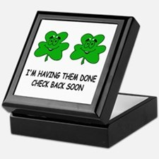 Boobies shamrocks Keepsake Box