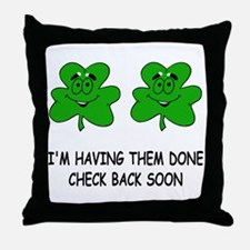 Boobies shamrocks Throw Pillow
