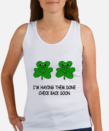 Boobies shamrocks Women's Tank Top