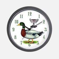 Trophy Mallard Wall Clock