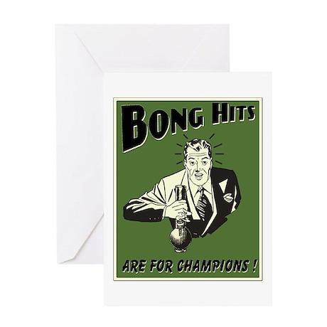 BONG HITS Greeting Card
