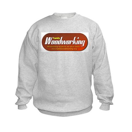 Family Woodworking Kids Sweatshirt
