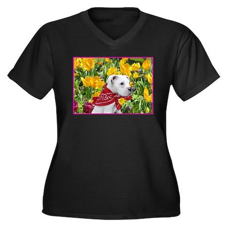 Easter Women's Plus Size V-Neck Dark T-Shirt