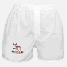 Pembroke Welsh Corgi Holiday Boxer Shorts