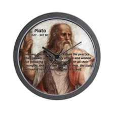 Plato: Philosophy / Equality Wall Clock