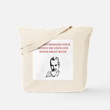 divorce joke for men Tote Bag
