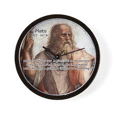 Music and Plato Wall Clock