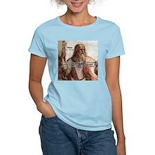 Music and Plato Women's Pink T-Shirt
