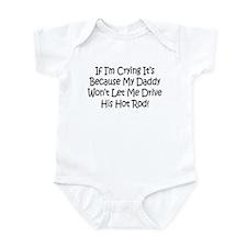 Drive My Daddys Hot Rod Infant Bodysuit