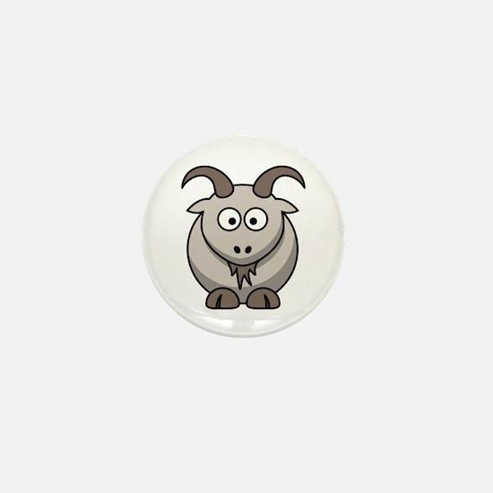 Cartoon Goat Mini Button