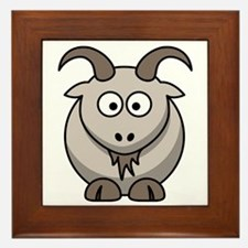 Cartoon Goat Framed Tile
