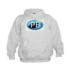 PB Pismo Beach, CA Wave Oval Hoodie