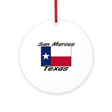 San Marcos Texas Ornament (Round)