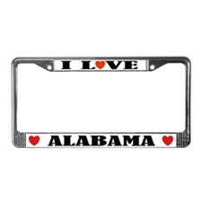 I Love Alabama License Plate Frame