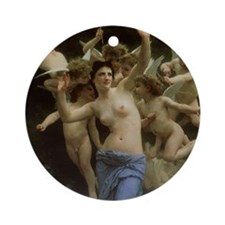 The Wasp's Nest by Bouguereau Ornament (Round)