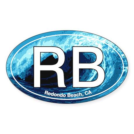 RB Redondo Beach, CA Oval Oval Sticker