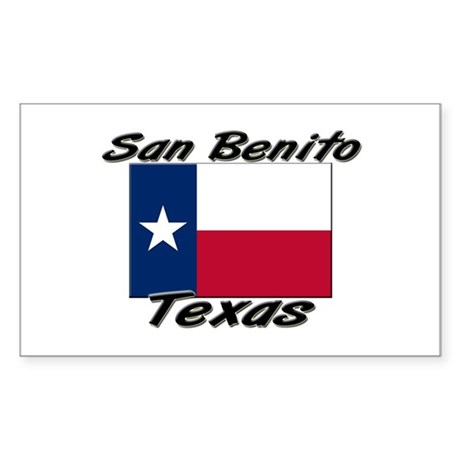 San Benito Texas Rectangle Sticker