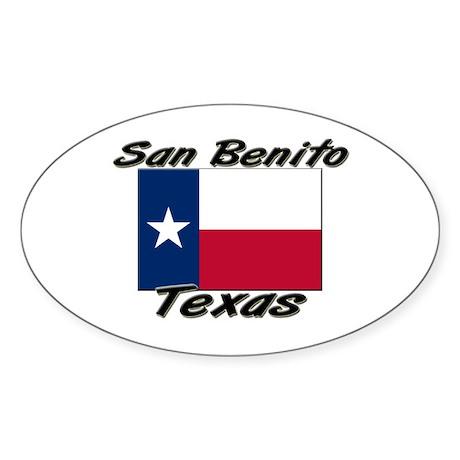 San Benito Texas Oval Sticker